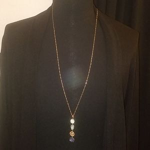 Long Gold Tone Necklace